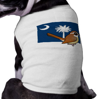 State Birdorable of South Carolina: Carolina Wren Doggie T Shirt