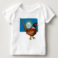 State Birdorable of South Dakota: Common Pheasant Baby Fine Jersey T-Shirt