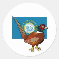 State Birdorable of South Dakota: Common Pheasant Round Sticker