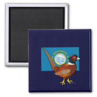 State Birdorable of South Dakota: Common Pheasant Square Magnet