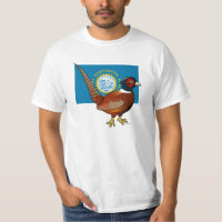 State Birdorable of South Dakota: Common Pheasant Men's Crew Value T-Shirt