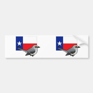 State Birdorable of Texas: Northern Mockingbird Car Bumper Sticker