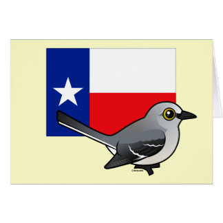 State Birdorable of Texas: Northern Mockingbird Card