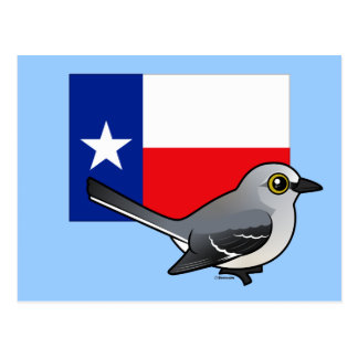 State Birdorable of Texas: Northern Mockingbird Postcard