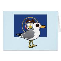 State Birdorable of Utah: California Gull Greeting Card