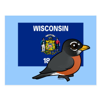 State Birdorable of Wisconsin: American Robin Postcard