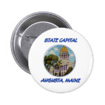 State Capital Augusta Maine Buttons