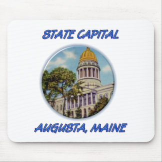 State Capital Augusta Maine Mouse Pad