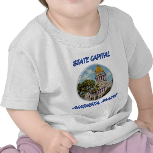 State Capital Augusta Maine T-shirt