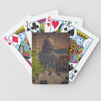 State Capital  in Boise, Idaho Bicycle Playing Cards