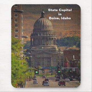 State Capital  in Boise, Idaho Mouse Pad