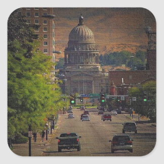 State Capital  in Boise, Idaho Stickers
