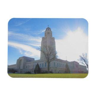 State Capital Lincoln, NE Flex Photo Magnet 1