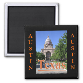 State Capitol Building, Austin, Texas 2 Inch Square Magnet