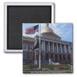 State Capitol Building, Boston, Massachusetts, U.S 2 Inch Square Magnet