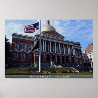 State Capitol Building, Boston, Massachusetts, U.S Print