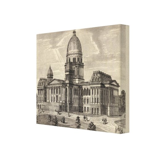 State Capitol building, Springfield, Ill Canvas Prints
