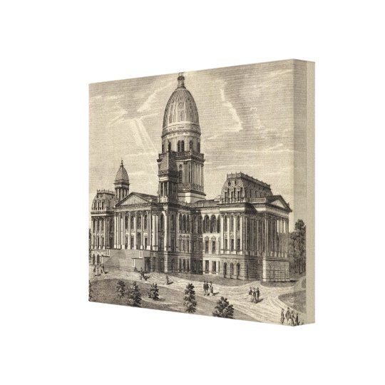 State Capitol building, Springfield, Ill Canvas Print