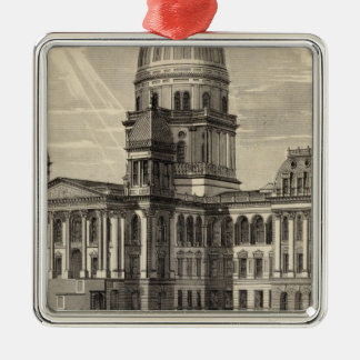 State Capitol building Springfield Ill Christmas Ornament