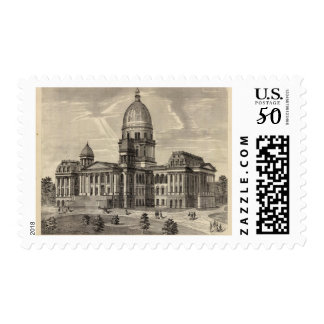 State Capitol building, Springfield, Ill Postage