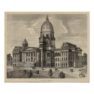 State Capitol building, Springfield, Ill Poster
