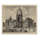 State Capitol building, Springfield, Ill Print