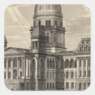 State Capitol building, Springfield, Ill Square Sticker