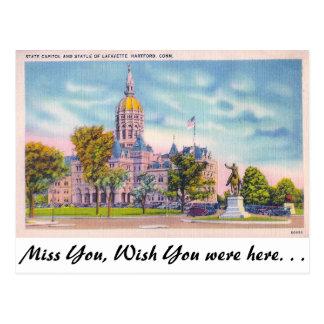 State Capitol, Hartford, Connecticut Postcard