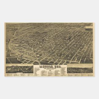 State Capitol Lincoln, Nebraska (1889) Rectangular Sticker