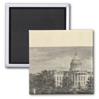 State Capitol, Madison, Wis 2 Inch Square Magnet