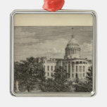 State Capitol, Madison, Wis Square Metal Christmas Ornament