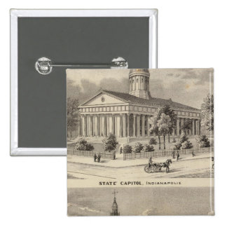 State Capitol , Marion County Court House Pinback Button