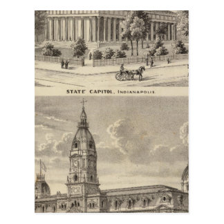 State Capitol , Marion County Court House Postcard