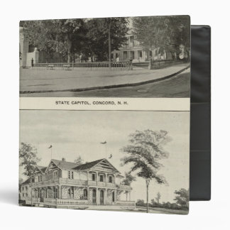 State Capitol, NH State Bldg, Columbian Exposition 3 Ring Binder