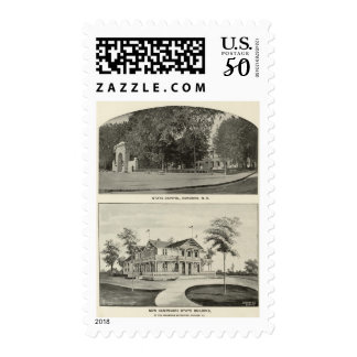 State Capitol, NH State Bldg, Columbian Exposition Postage