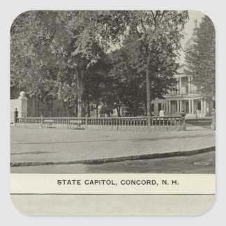 State Capitol, NH State Bldg, Columbian Exposition Square Sticker