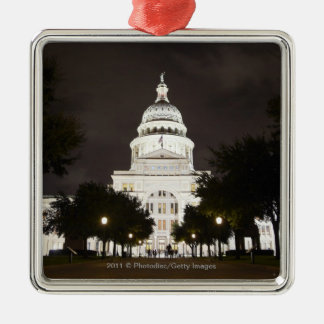 State Capitol of Austin, Texas at Night Metal Ornament