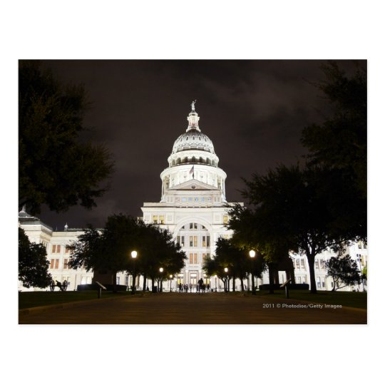 State Capitol of Austin, Texas at Night Postcard