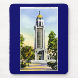 State Capitol Tower, Lincoln, Nebraska Mouse Pad