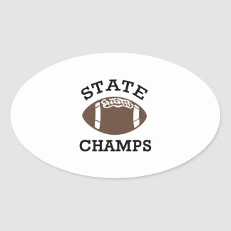 STATE CHAMPS OVAL STICKER