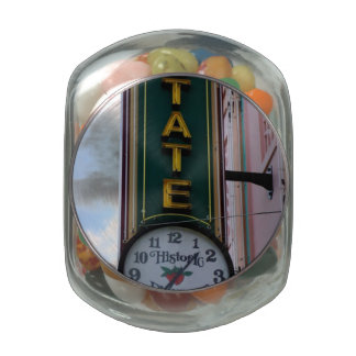 State Clock Glass Candy Jars