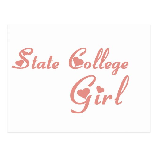State College Girl tee shirts Post Card
