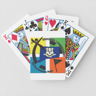 STATE CONNECTICUT NICKNAME GEOCACHER BICYCLE PLAYING CARDS