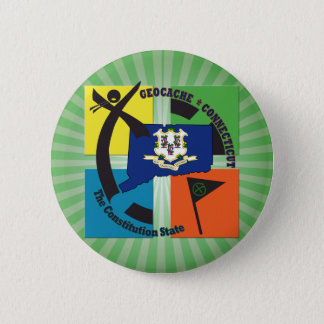 STATE CONNECTICUT NICKNAME GEOCACHER BUTTON