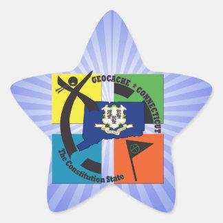 STATE CONNECTICUT NICKNAME GEOCACHER STAR STICKER