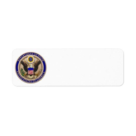 State Dept. Seal Label