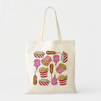 State Fair Carnival Fried Junk Food Foodie Tote