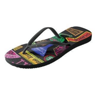 State Fair Favorites - black flip-flops Flip Flops