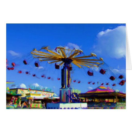 State Fair Swing ride, Indianapolis, Indiana Card