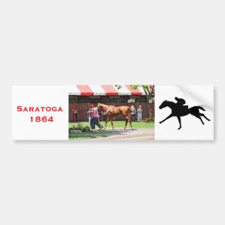State Flag in the Saratoga Paddock Car Bumper Sticker